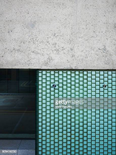 National Film School Dun Laoghaire Institute of Art Dublin Ireland Architect ABK 2013 Abstract of concrete wall and glazing