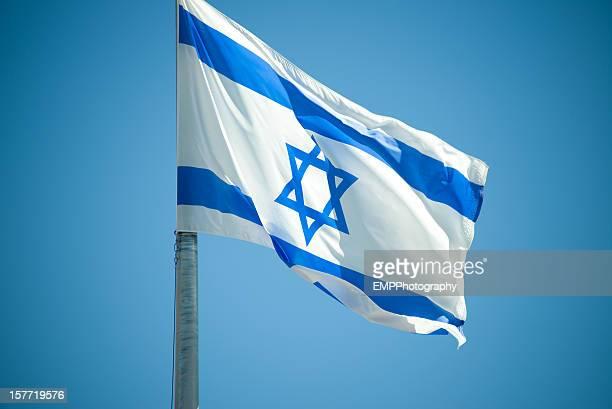 national flag of israel - israel bildbanksfoton och bilder