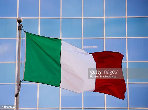 National flag of Italy It is a tricolor featuring three equally sized vertical pales of green white and red with the green at the hoist side