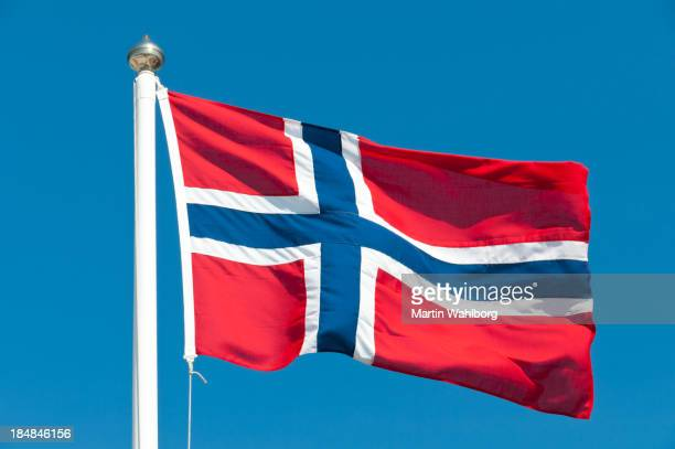 national flag of norway - norwegian flag stock pictures, royalty-free photos & images