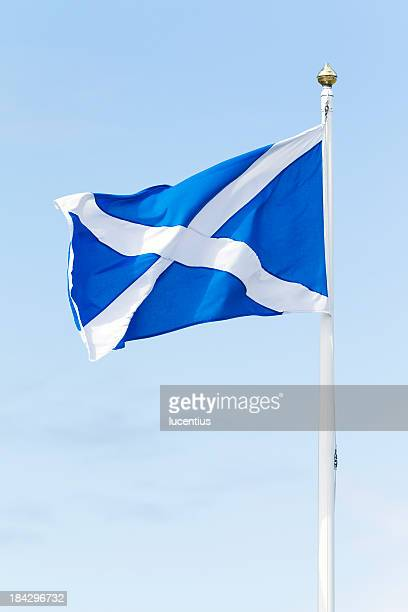 national flag of scotland - scotland flag stock photos and pictures