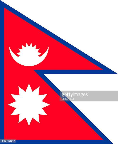 National flag of the Democratic Republic of Nepal