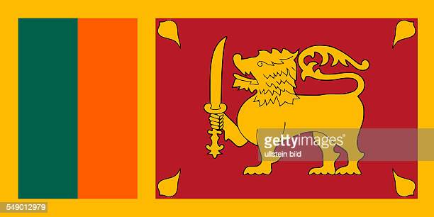 National flag of the Democratic Socialist Republic of Sri Lanka