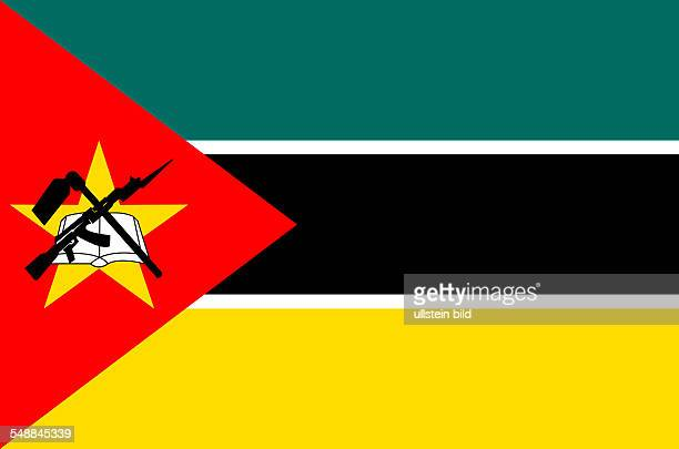 National flag of the Republic of Mozambique