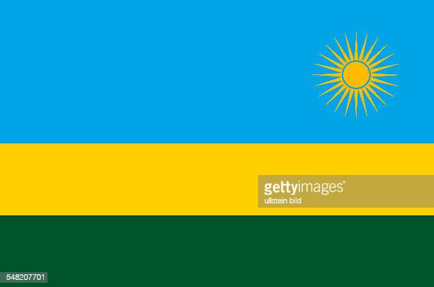 National flag of the Republic of Rwanda