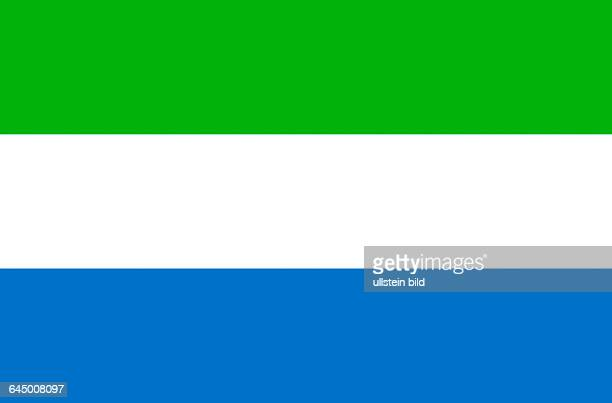 National flag of the Republic of Sierra Leone