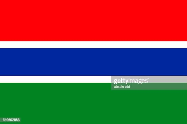 National flag of the Republic of the Gambia