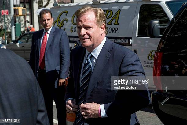 National Football League Commissioner Roger Goodell arrives at federal court to defend his decision to suspend New England Patriots' quarterback Tom...