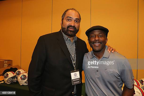 National Football League Hall of Famer Franco Harris and standout Brusce Harper attend the March Of Dimes celebrity casino party at Long Island...