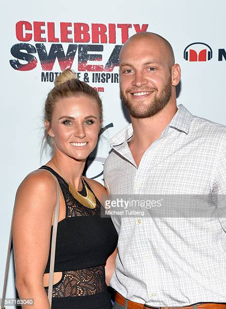 National Football League player Chase Reynolds and wife Kila Reynolds attend Celebrity Sweat's After ESPYs VIP Bash at The Palm Restaurant on July 13...
