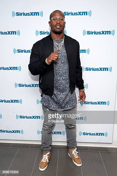 National Football League player Von Miller visits SiriusXM Studios on February 11 2016 in New York City