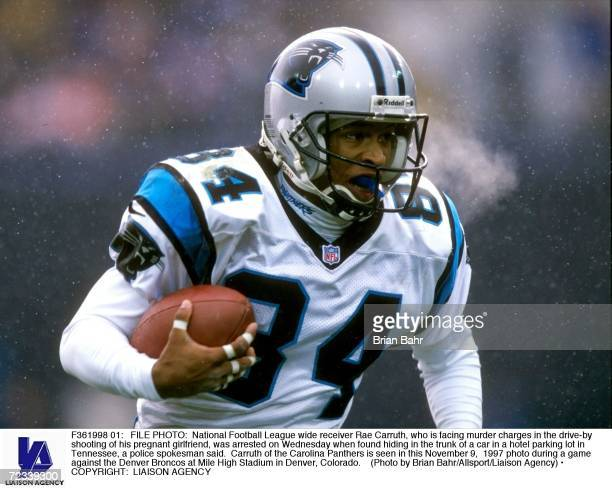 National Football League wide receiver Rae Carruth who is facing murder charges in the driveby shooting of his pregnant girlfriend was arrested on...