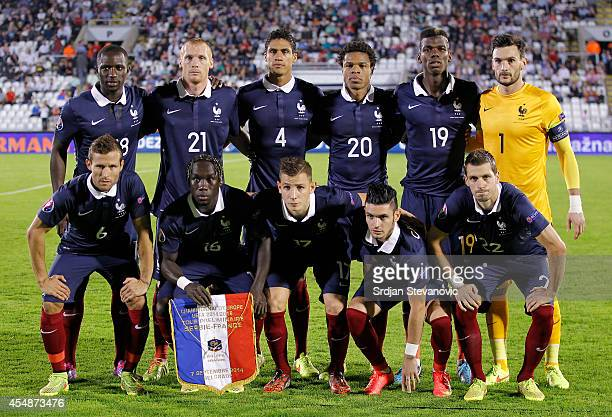 National football team of France poses to photographers prior the International friendly match between Serbia and France at the Stadium JNA on...