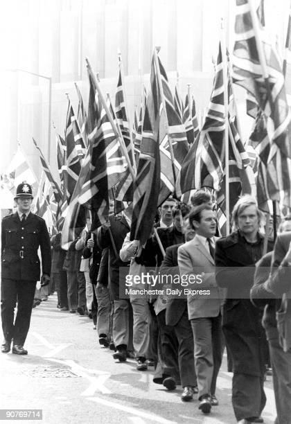 National Front demonstration Bradford April 1975