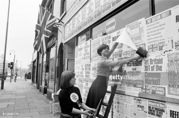 National Front Headquarters damaged during demonstrations Ladywood Birmingham 15th August 1977 Byelection to be held on 18th August 1977