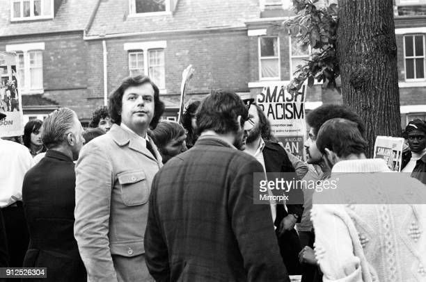 National Front meeting, City Road School, Winston Green, Birmingham, Monday 8th August 1977. Tensions ahead of Birmingham Ladywood by-election, to be...