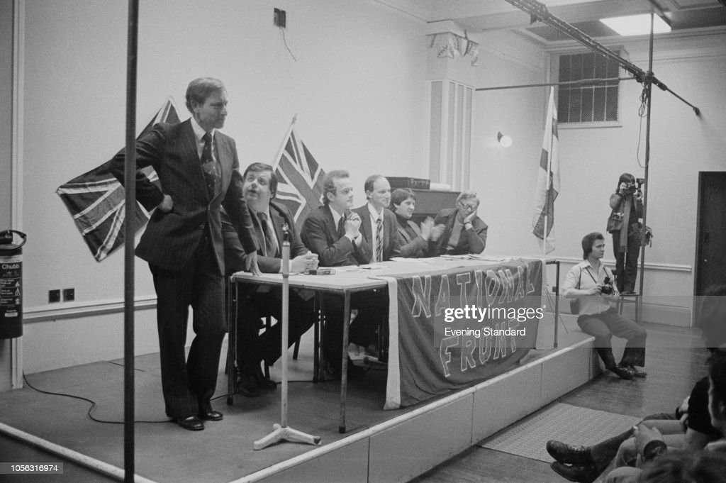 National Front Meeting : News Photo