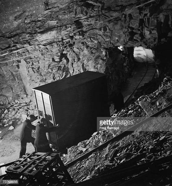 National Gallery art treasures are taken out of storage for cleaning and restoration at Manod Quarry north Wales September 1942 The gallery's art...