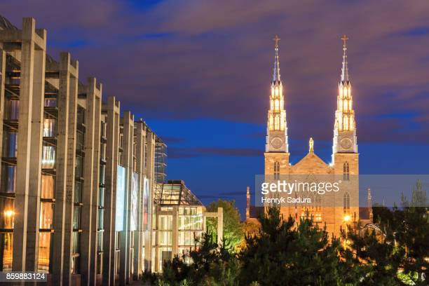 National Gallery of Canada and Cathedral Basilica of Notre-Dame