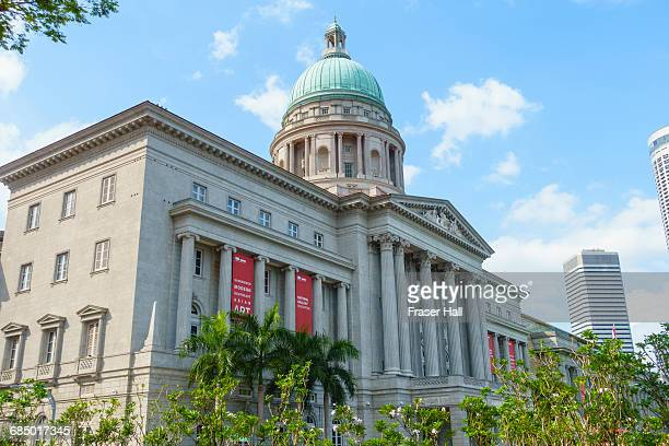 national gallery singapore occupying the former city hall and old supreme court building, singapore, southeast asia, asia - national gallery stock photos and pictures