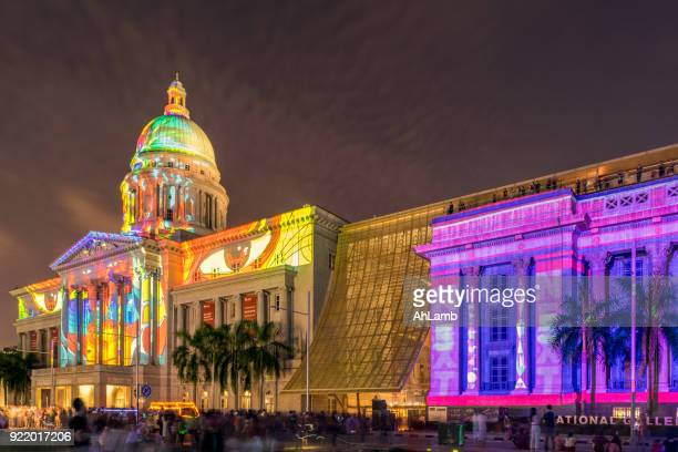 national gallery, singapore. - national gallery stock photos and pictures
