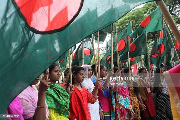 National Garment Workers Federation made procession and rally with national flag demanding special allocation in six sector for garment workers...