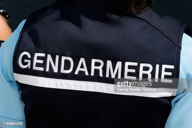 national gendarmerie. close-up.  france. - france stock-fotos und bilder