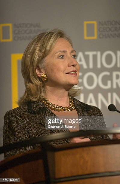National Geographic Channel hosts Secretary of State Hillary Clinton at the world premiere of Inside the State Department in Washington DC