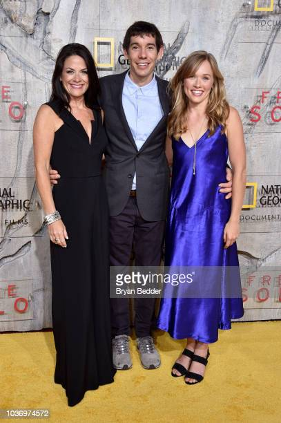 CEO National Geographic Global Networks Courteney Monroe Featured Free Soloist Alex Honnold and Free Solo Film Subject Sanni McCandless attend the...