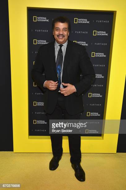 National Geographic Host Astrophysicist and author Neil deGrasse Tyson at National Geographic's Further Front Event at Jazz at Lincoln Center on...