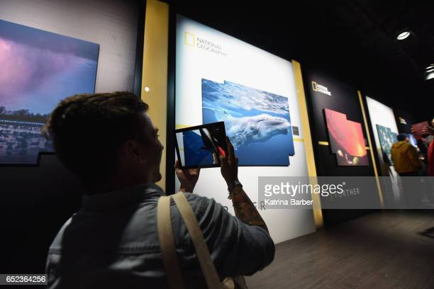 National Geographic is seen during 2017 SXSW Conference and Festivals on March 11 2017 in Austin Texas