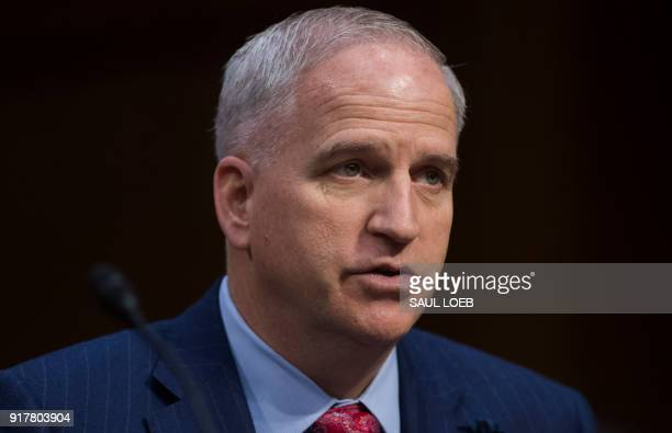 National Geospatial Intelligence Agency Director Robert Cardillo testifies on worldwide threats during a Senate Intelligence Committee hearing on...