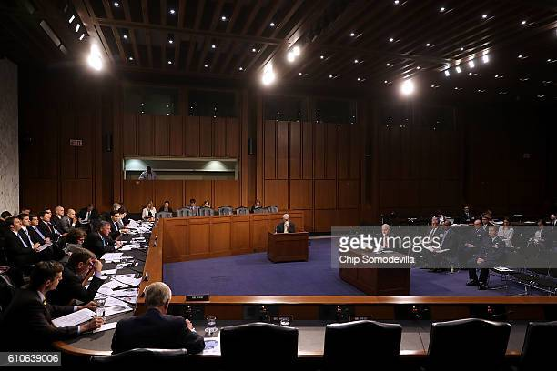 National GeospatialIntelligence Agency Director Robert Cardillo testifies before the Senate Select Committee on Intelligence in the Hart Senate...