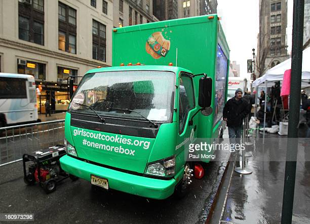National Girl Scout Cookie Day Truck on National Girl Scout Cookie Day on February 8 2013 in New York City
