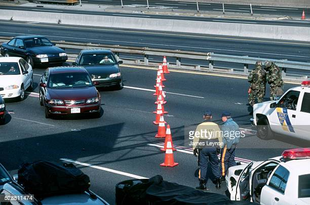 National Guard and State Police on the George Washington Bridge which was closed due to the crash of American Airlines Flight 587 in Queens near JFK...