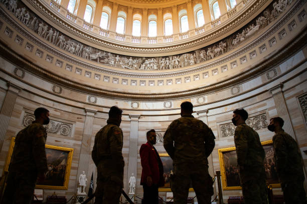 DC: National Guard Troops Receive Tours Of U.S. Capitol, After Weeks Of Guarding It