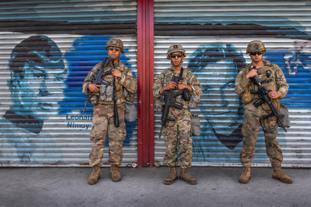 National Guard on Patrol in Hollywood