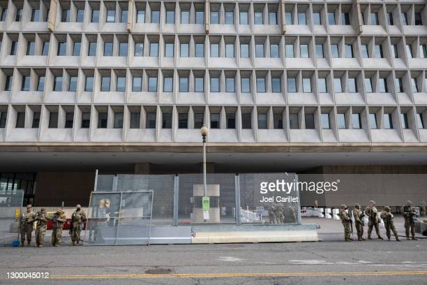national guard providing security in washington dc - department of health and human services stock pictures, royalty-free photos & images