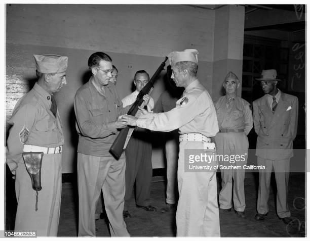 National Guard Reserves 25 July 1951 Sergeant Major John ConnorsSergeant Ernest KuanFrank RoseliStaff Sergeant Herbert WalterGilbert MadridJoe...