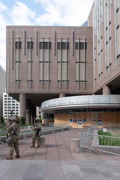 MN: Soldiers Guard Minneapolis Jail Holding Police Officers