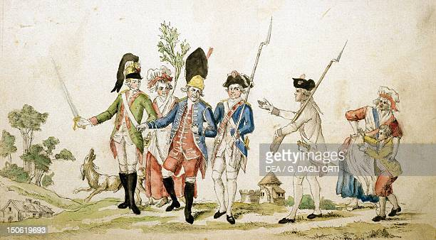 National Guards leaving for Paris October 6 1789 French Revolution France 18th century