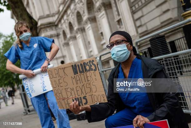 National Health Service nurses protest against pay and working conditions Dominic Cummings and show support for the Black Lives Matter movement...