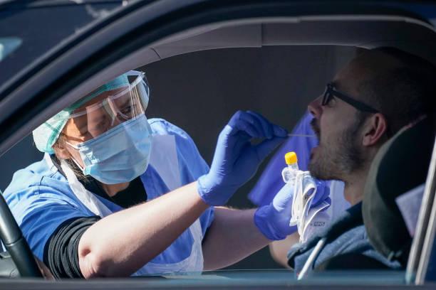 GBR: NHS Workers Tested For Coronavirus At Drive-Thru In Wolverhampton