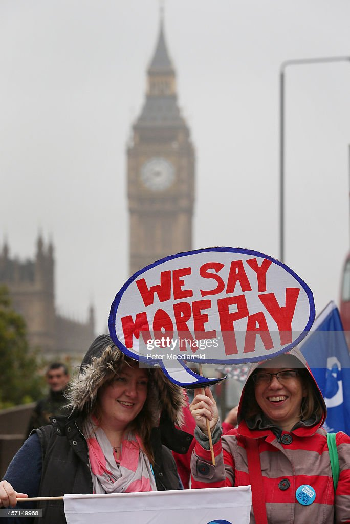 NHS Stage First Strike Over Pay For 30 Years : News Photo