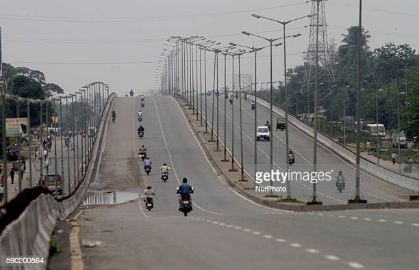 National highway looks deserted due to strike in the eastern Indian city Bhubaneswar India Tuesday 16 August 2016 The Main opposition political party...