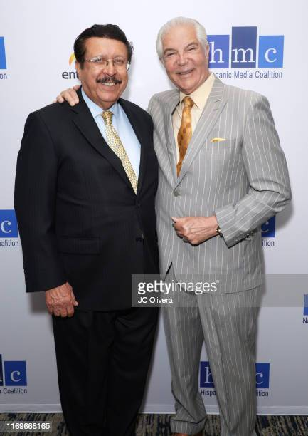 National Hispanic Media Coalition president and CEO Alex Nogales and Gilbert Vazquez attend the NHMC's 17th Annual Los Angeles Impact Awards luncheon...