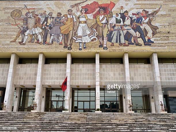 national historial museum, tirana - tirana stockfoto's en -beelden