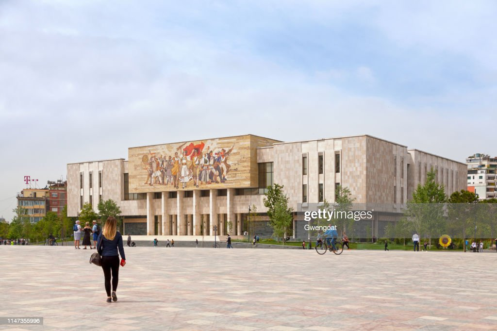 National History Museum in Tirana : Stock Photo