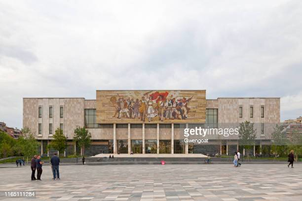 national history museum in tirana - history museum stock pictures, royalty-free photos & images