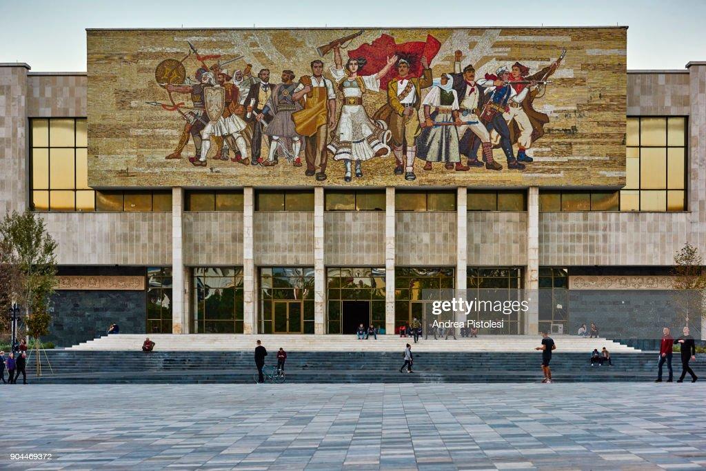 National History Museum, Tirana, Albania : Stock Photo